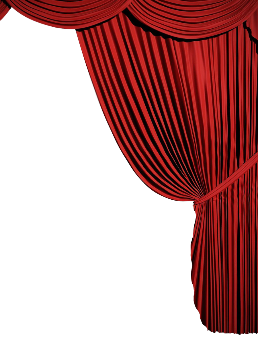 free Corner curtains red png. Curtain clipart