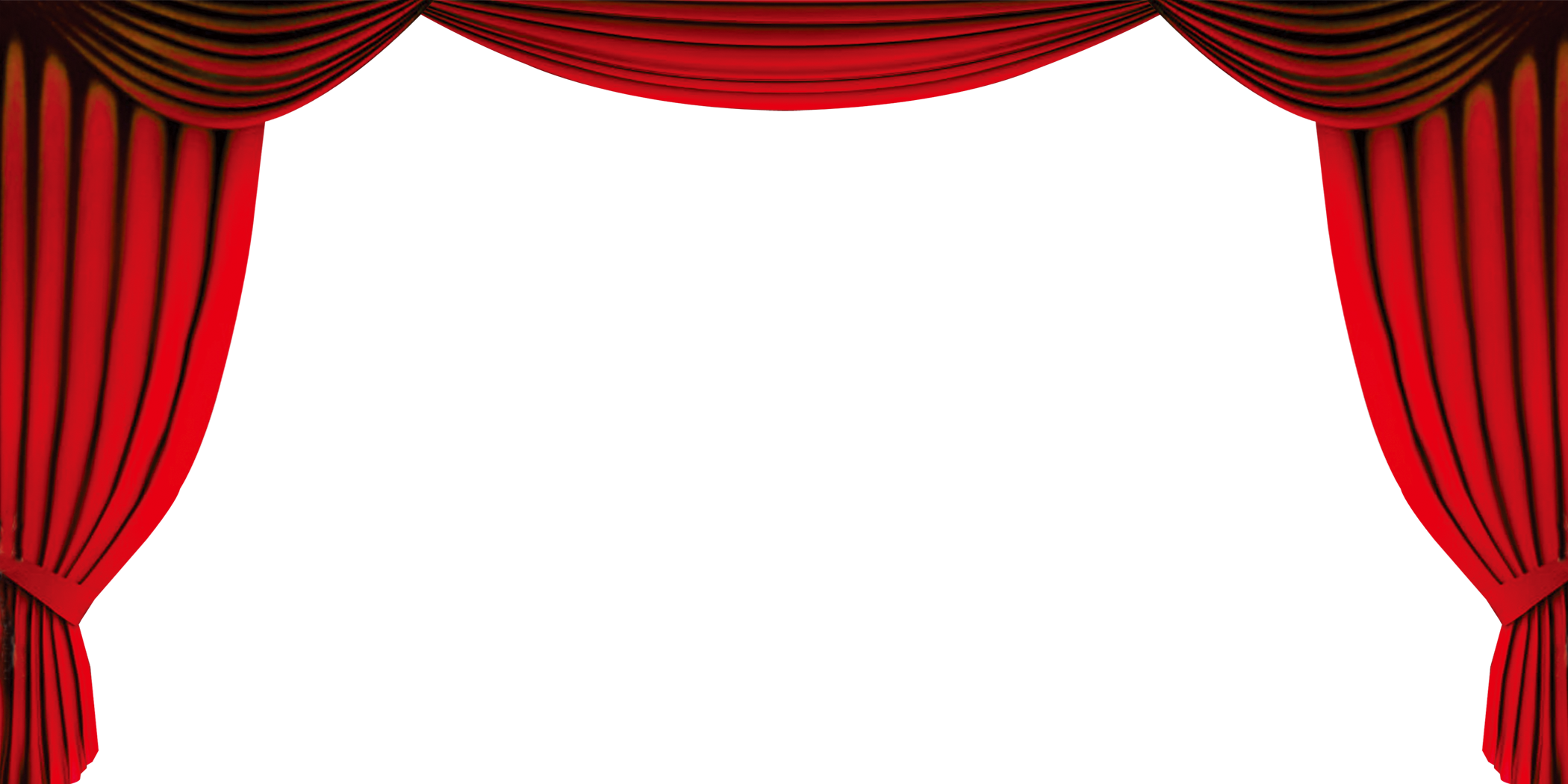 banner transparent Curtain clipart. Red gold clip art