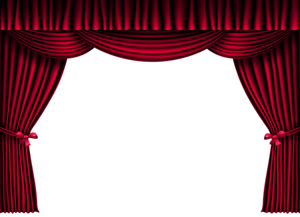 image freeuse download Red Curtains PNG Clipart Image