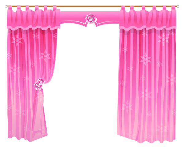 png black and white stock Pink curtains transparent png. Curtain clipart kitchen window