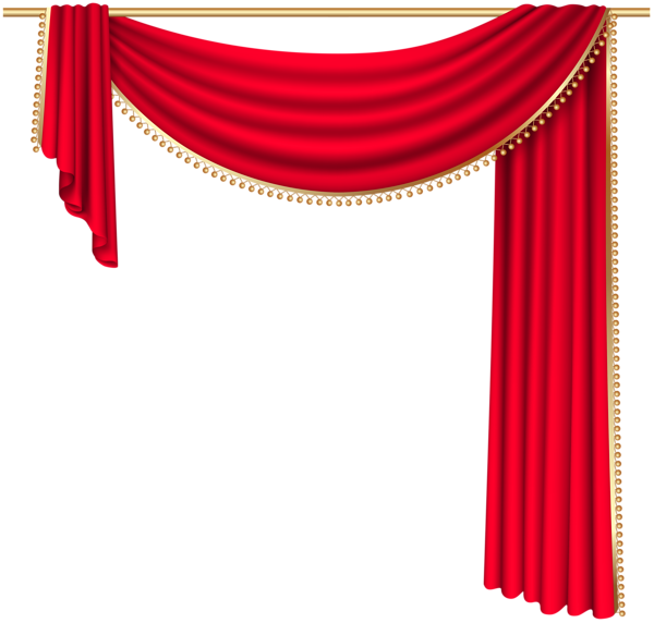 graphic transparent stock Curtain vector illustrator. Red transparent png clip