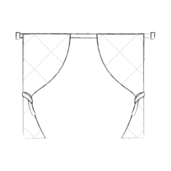 image royalty free download Window Curtain Drawing at GetDrawings