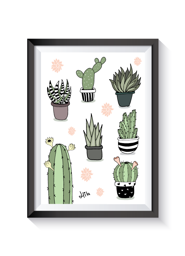 vector transparent download pretty cactus illustrations by MissCupcakes