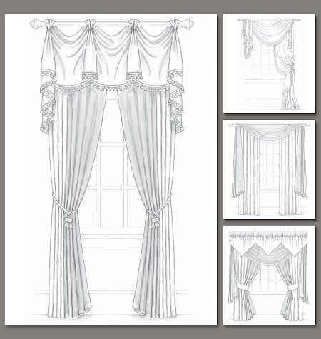 vector black and white library Pattern for fancy curtains