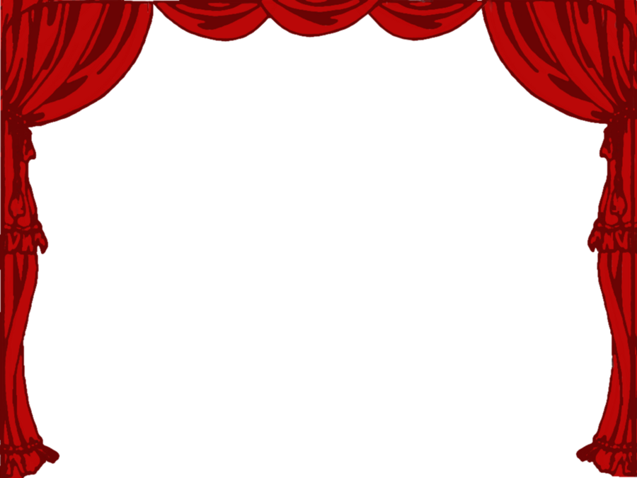 banner library Curtains clipart. Theatre stage curtain .