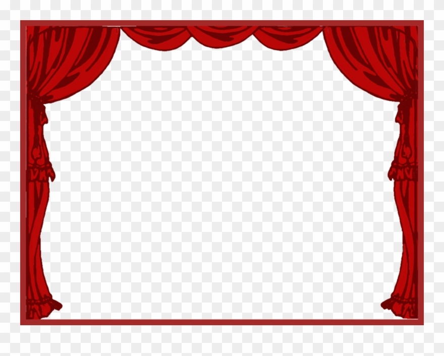 svg library library Left theater drapes and. Curtain clipart