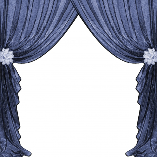 image royalty free Drapes blue free stock. Curtains clipart.