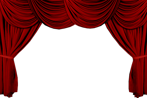 banner royalty free stock curtains clipart red velvet #31899843