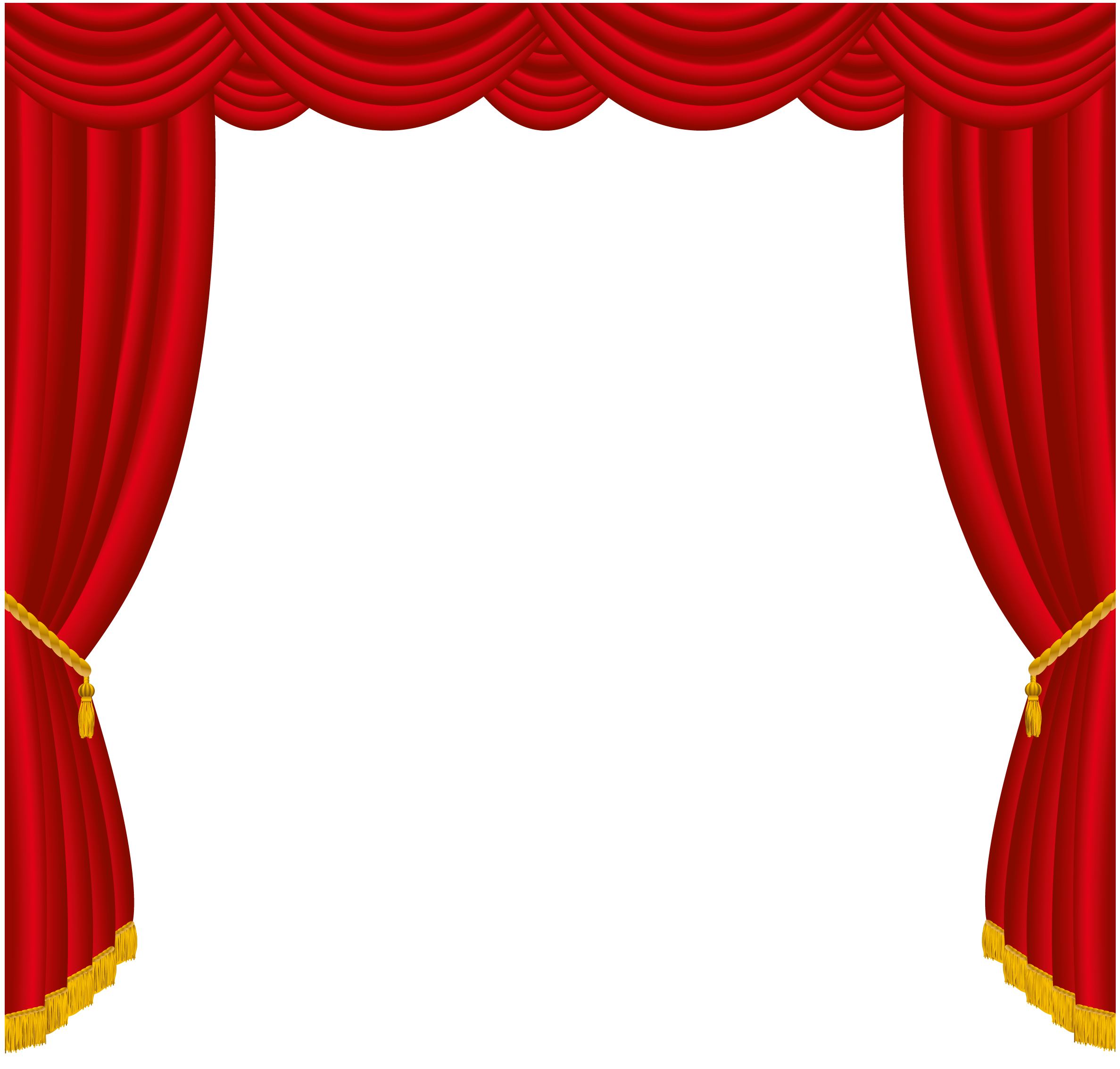 clipart stock Transparent Red Curtains Decor PNG Clipart