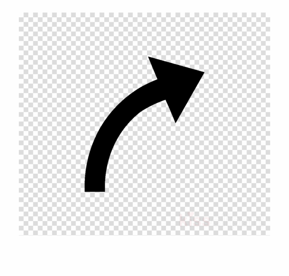 stock Black arrows curve arrow. Curved clipart.