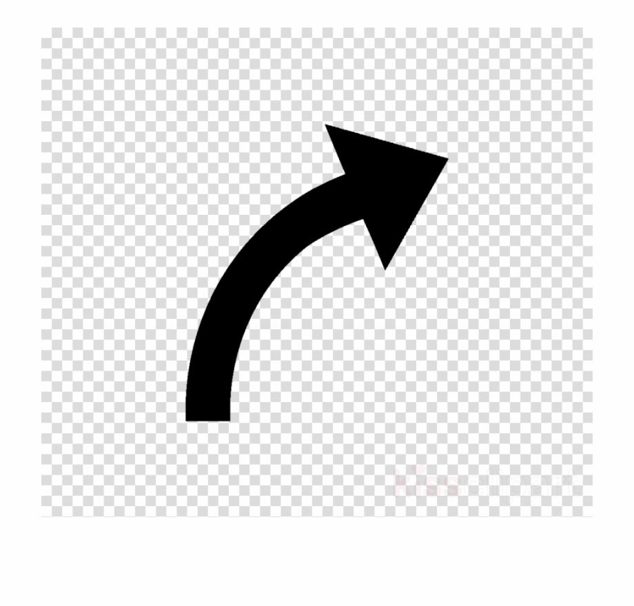 stock Black arrows curve arrow. Curved clipart