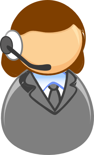 clip free Call clipart telemarketer. Customer service representative .