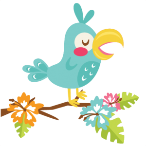 vector freeuse download Tropical bird svg scrapbook. Cut clipart.