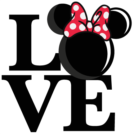 banner library stock Love mouse girl title. Cut clipart