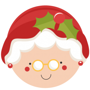 clipart library download Christmas mrs claus svg. Cut clipart