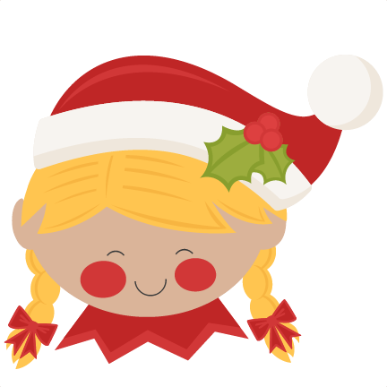 vector royalty free download Cut clipart. Christmas elf girl svg.