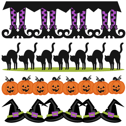 clipart royalty free Svg scrapbook cut file. Halloween borders clipart