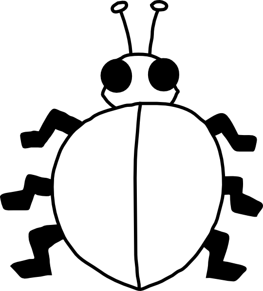 banner transparent Ladybugs clipart symmetrical. Bug silhouette at getdrawings.