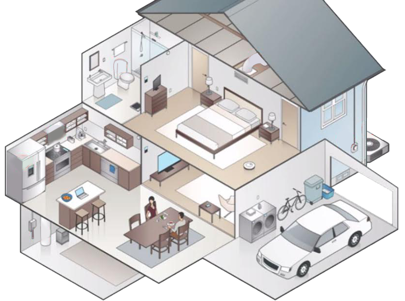 vector transparent library House Isometric projection Building Cutaway drawing