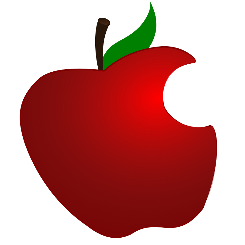 clip black and white stock Red apple bite clipart. Vector apples geometric
