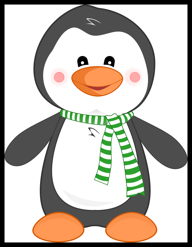 vector black and white Shocking Premium Vector Clipart Kawaii Penguin Cute Pics Of Ideas