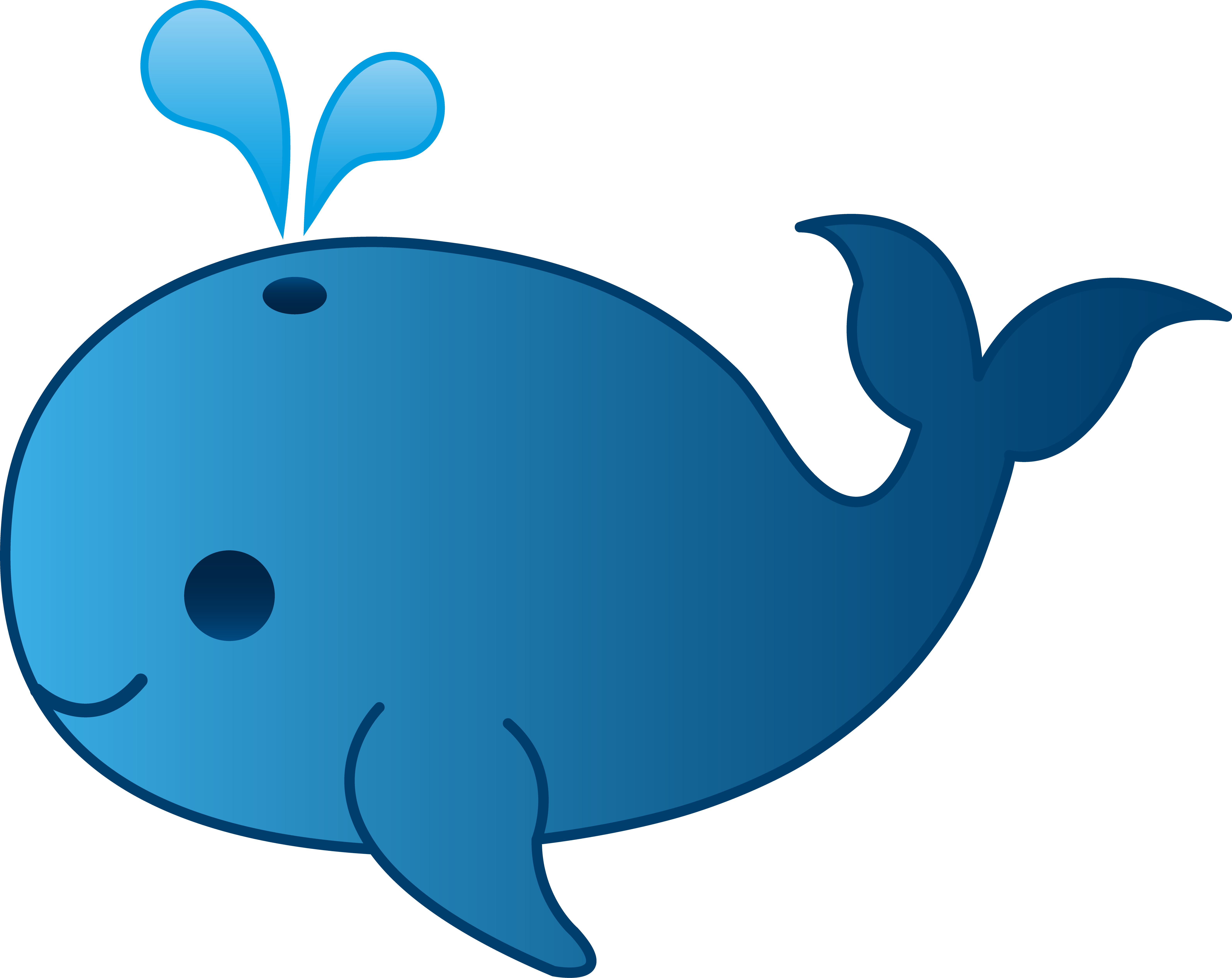 graphic freeuse library Little blue clip art. Whale clipart.