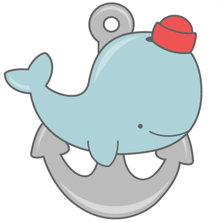 graphic free With anchor svg cut. Cute baby whale clipart