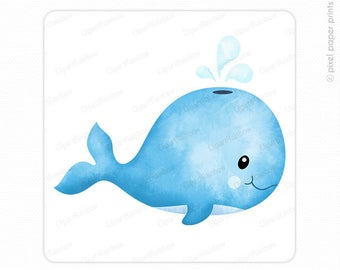 clip art download Cute baby whale clipart. Etsy