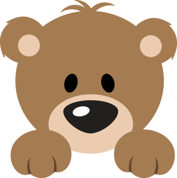 picture freeuse library Cute Bear Peeker