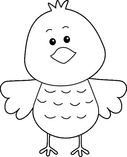 clip black and white stock Cute Black and White Bird Clip Art