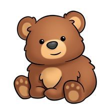 clip free library Free download best . Cute brown bear clipart