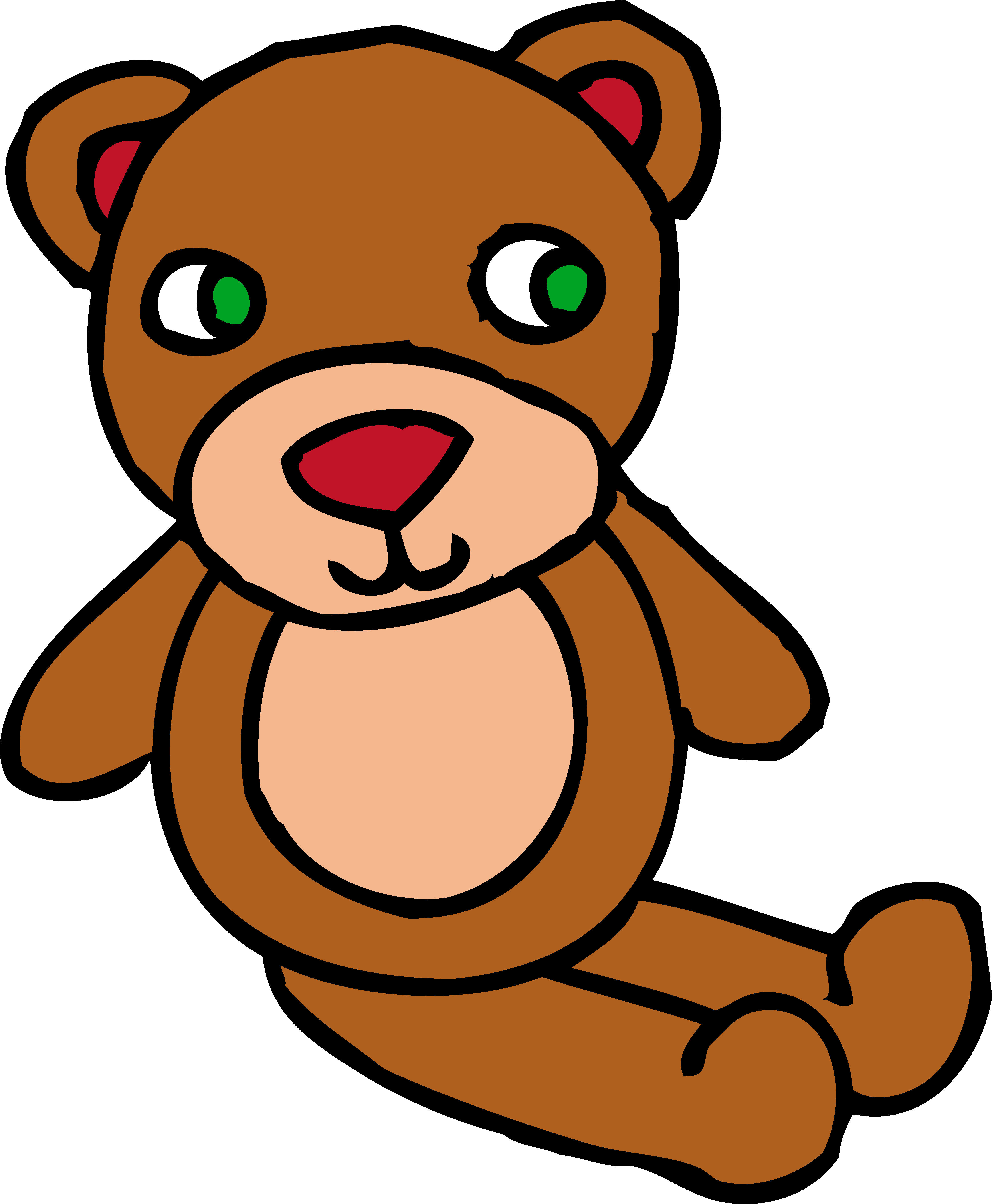 png transparent Teddy toy free clip. Cute brown bear clipart