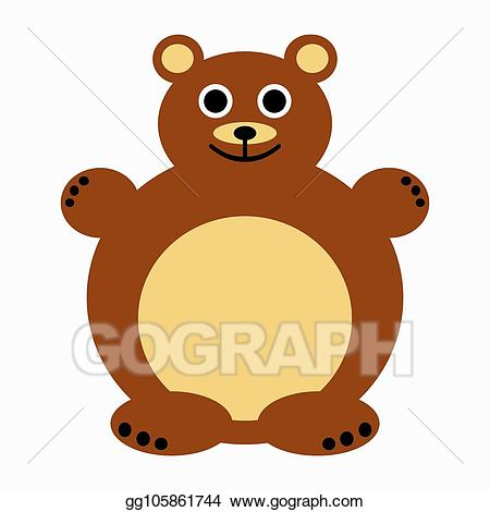banner freeuse stock Stock illustration drawing . Cute brown bear clipart