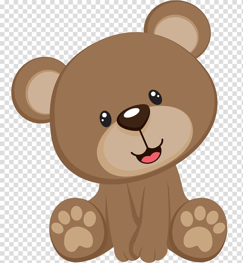 black and white download Illustration transparent background . Cute brown bear clipart