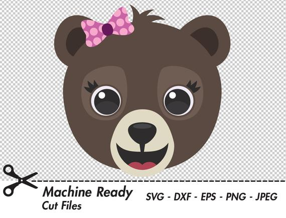 image freeuse Cute brown bear clipart. Grizzly svg cut files