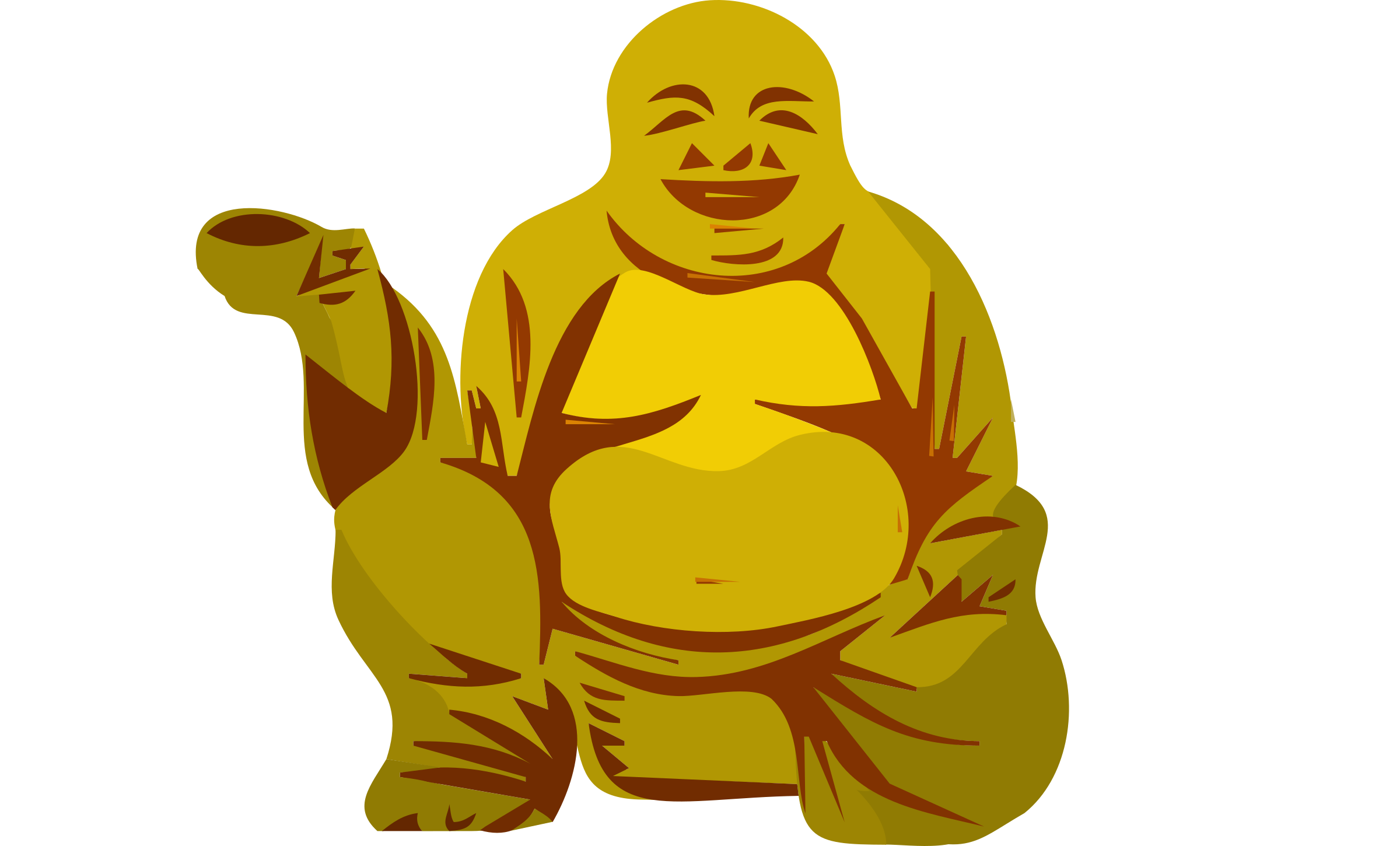 banner download Buddha with cup Icons PNG