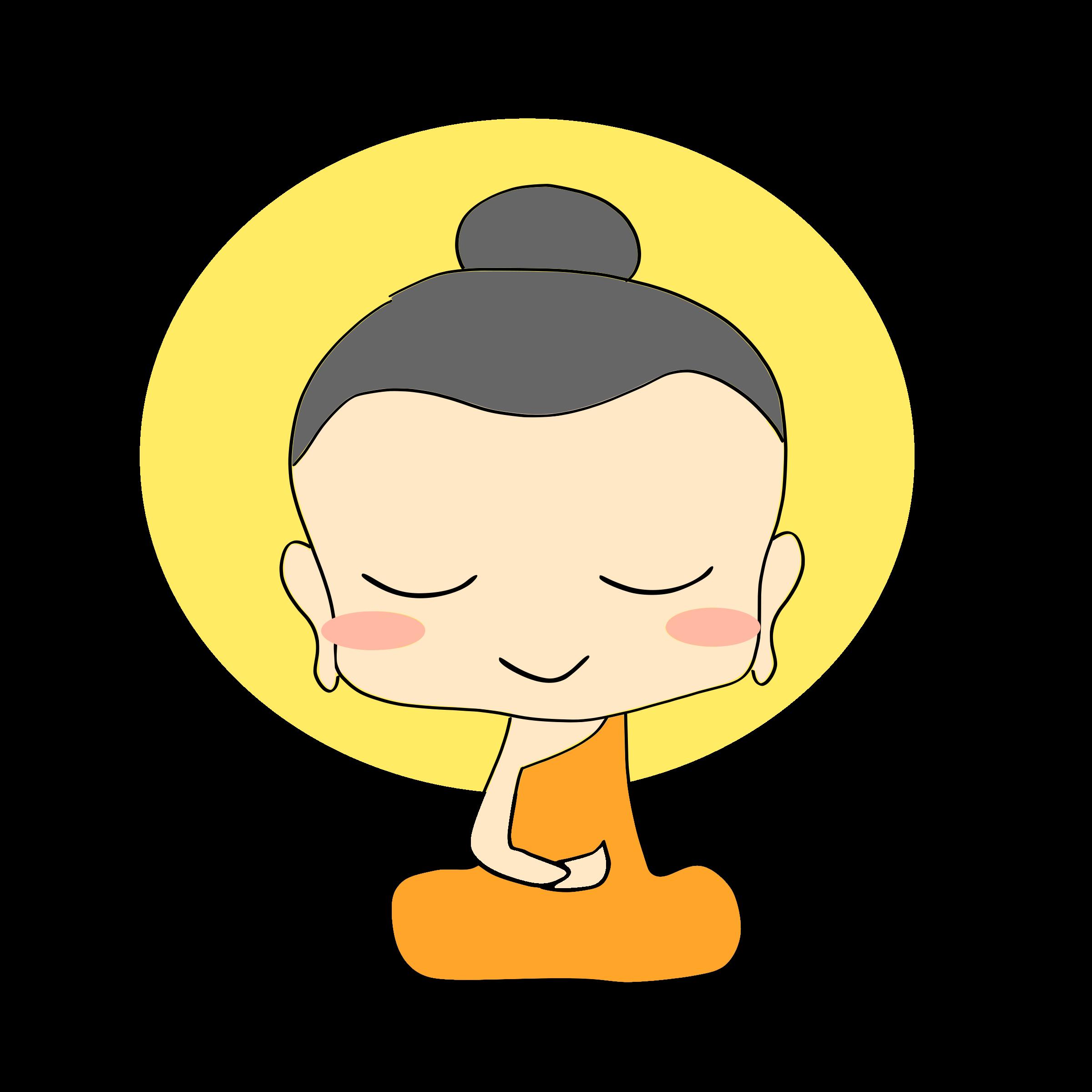 clipart freeuse library Chibi. Cute buddha clipart.