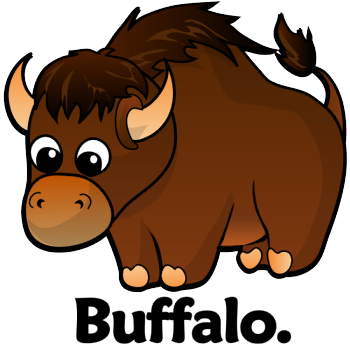 picture freeuse stock Cute buffalo clipart. Free cartoon download clip.