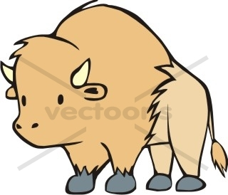 picture freeuse stock Free cartoon download clip. Cute buffalo clipart.