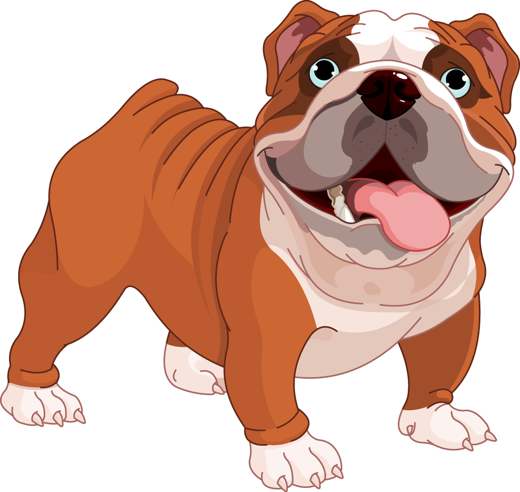 png free library Clipart cute pencil and. Vector bulldog bully dog