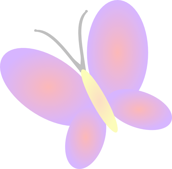 svg freeuse stock Lilac butterfly clip art. Flowers and butterflies clipart.