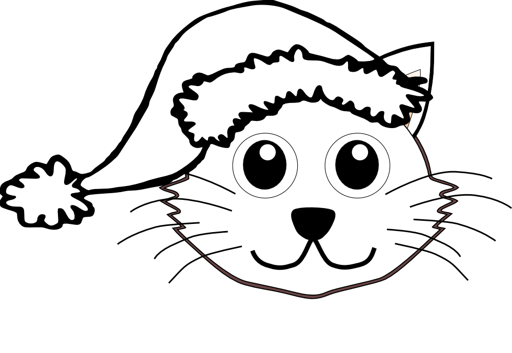 clip freeuse library Cat face clipart black and white. Drawing images at getdrawings