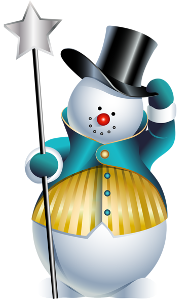 vector black and white library Cute Snowman PNG Clipart Picture