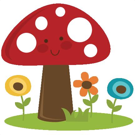 library Cute clipart. Mushroom