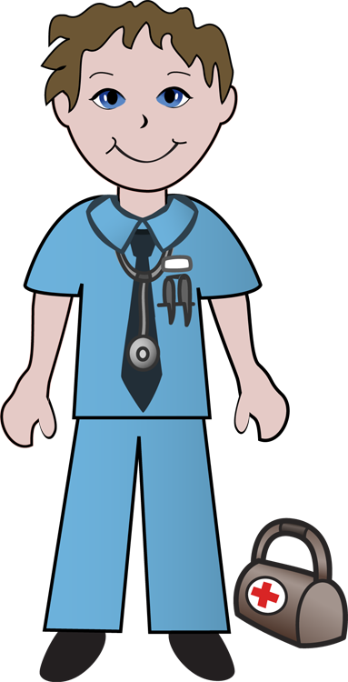 image black and white Free Clip Art Of Doctors and Nurses