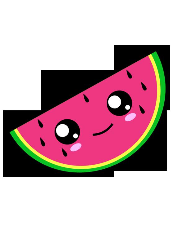 vector freeuse library Kawaii Watermelon