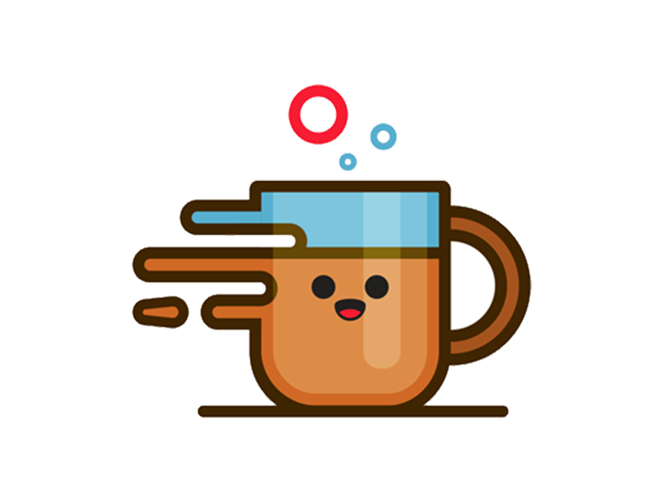 clip transparent stock Illustration material. Cute coffee cup clipart