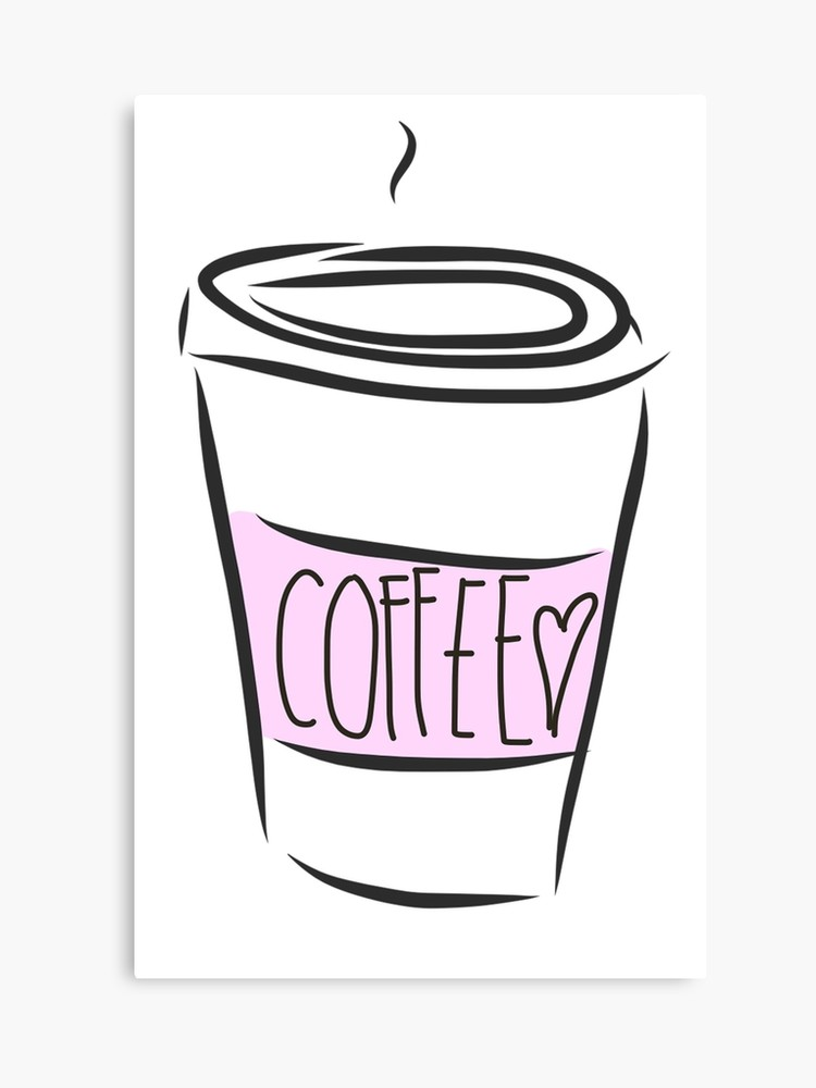jpg free library Canvas print . Cute coffee cup clipart
