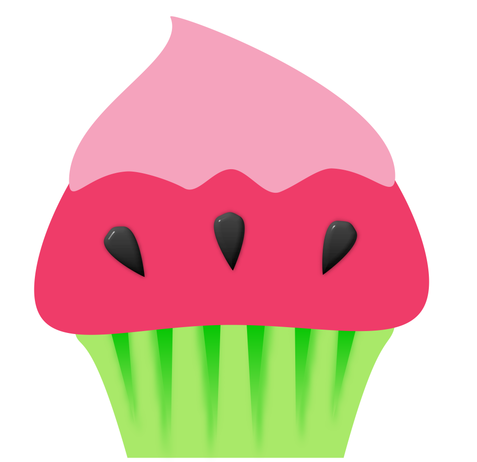 graphic free Cute cupcake clip art