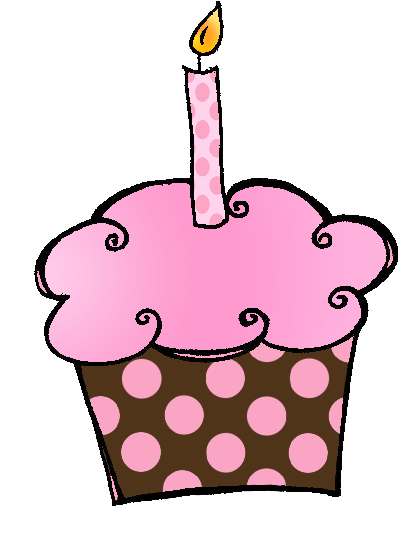 graphic black and white library Cute cupcakes clipart